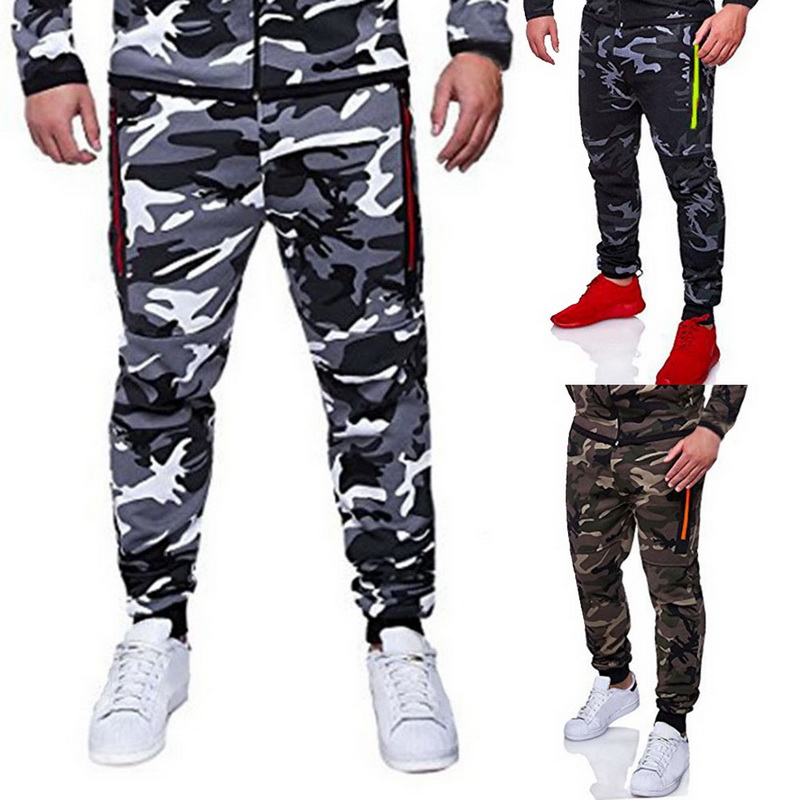 Mens Camouflage Running Pants Male  Pencil Harem Hip Men Loose Comfortable Trousers Joggers New