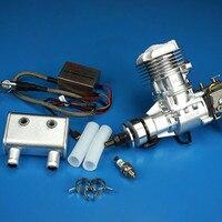 DLE 20RA радиоуправляемая модель бензиновый двигатель DLE20RA одноцилиндровый двухтактный Выпускной природного ветер холодный стороны начать 20CC