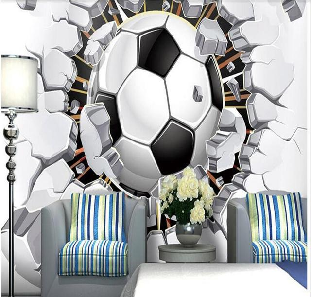 . US  10 19 49  OFF Football Wallpaper American Wall Paper 3D Photo Wallpaper  Murals Non Woven for Kids Bedroom Living Room Wall Art Decor Painting in
