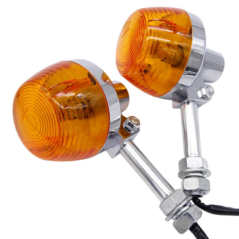 Motorcycle Turn Signal Light For Honda XL100 C70 CT70 CT90 CB350 CM400 CB450 CB750 Moto Indicators Flashers Blinkers Amber Lamp