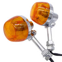 Motorcycle Turn Signal Light For Honda XL100 C70 CT70 CT90 CB350 CM400 CB450 CB750 Moto Indicators Flashers Blinkers Amber Lamp