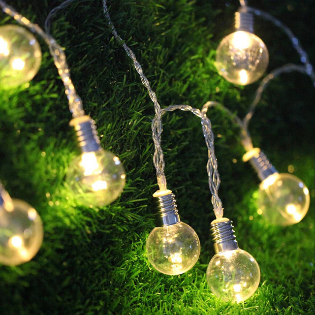 5m 40 led clear bulb string light lamp garden christmas wedding home bar decoration festival supplier
