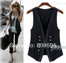 Spring fashion handsome lady vest ,  Plus size women suit vest , size S-XXXL