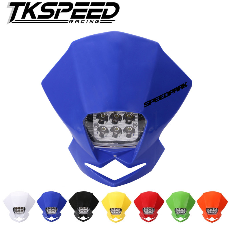 Universal LED Motorcycle Headlights Motocross Head Lamp Enduro For KLX KDX KTM RMZ DRZ DR XR YZ CR Moto Parts