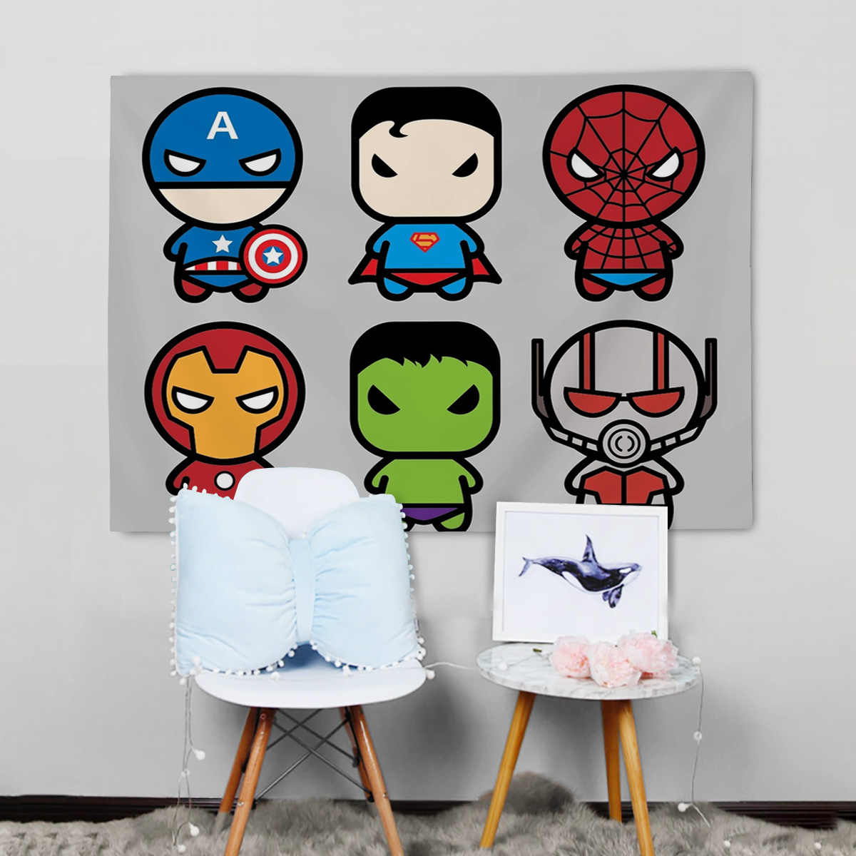 Superhero Cartoon Design  Endgame Wall Tapestry Shield Bedding Cover Beach Towel Picnic Yoga Mat Home Decoration