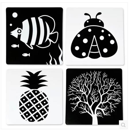 Baby early learning cards black and white card flash cards newborn black and white newborn