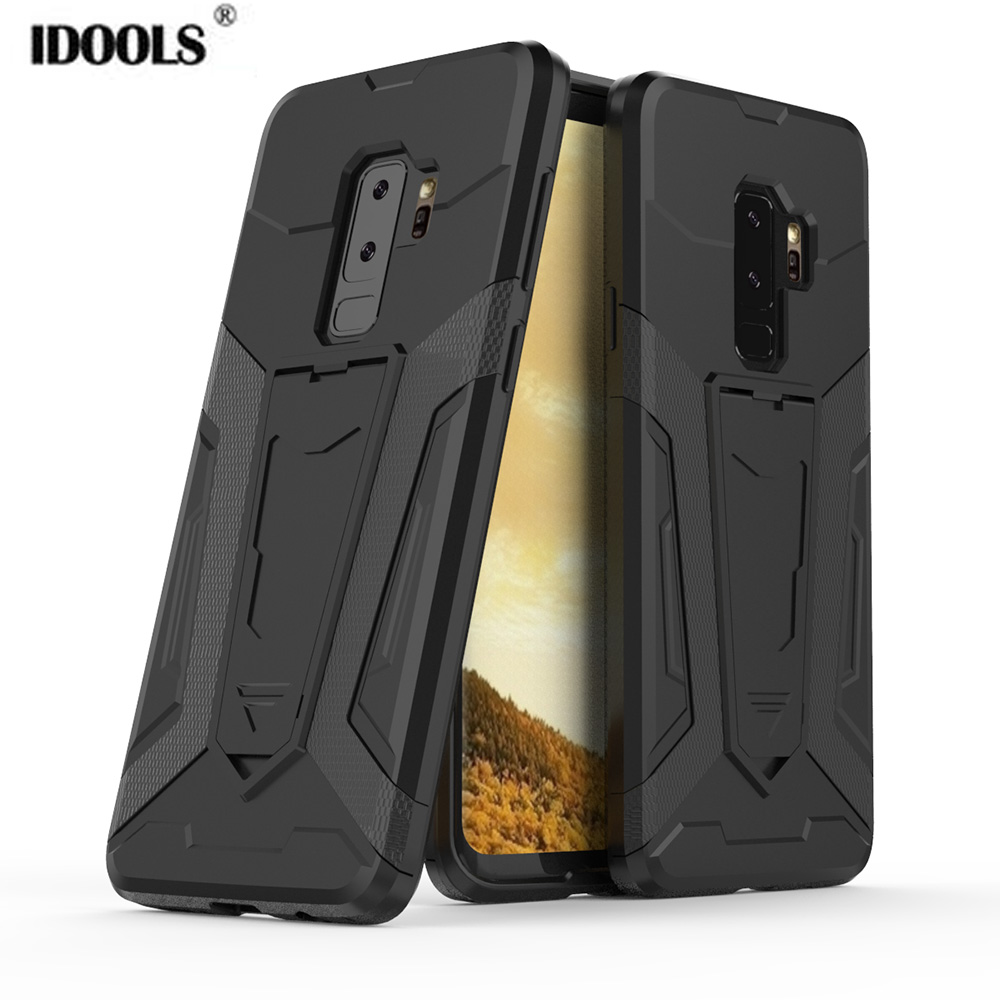 IDOOLS Case For Samsung Galaxy S9 Plus S9+ Shockproof Cover TPU PC Armor Back Phone Case For Samusng Galaxy S8 Plus J4 J6 2018 ...