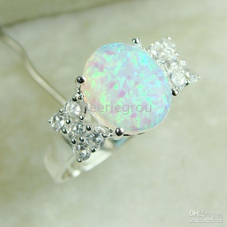 Opal Jewelry Opal Ring, Natural Semi Precious Stone Ring
