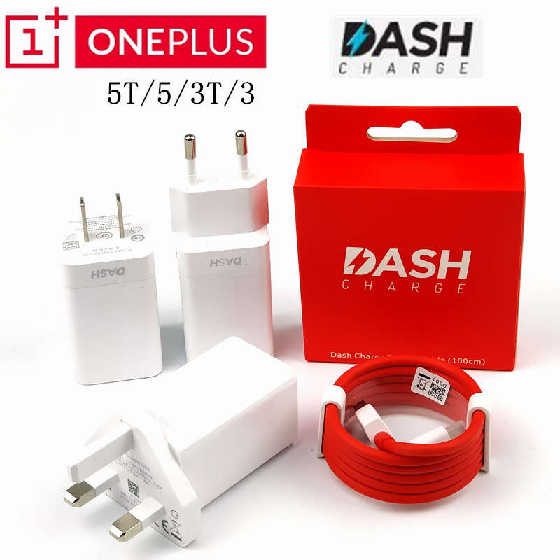 Original Oneplus 6 DASH Charger one plus 5t 5 3t 3 5V 6t Quick fast charging Adapter USB 3.1 Type-C Data line dash Charge cable