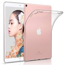 Clear Ultra Transparent Soft Silicon TPU Case Cover For New Apple iPad Pro 10.5