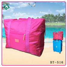 2017 travel hand luggage bag solid color nylon package large capacity women outside fashion trave bag mala de viagem BT-516