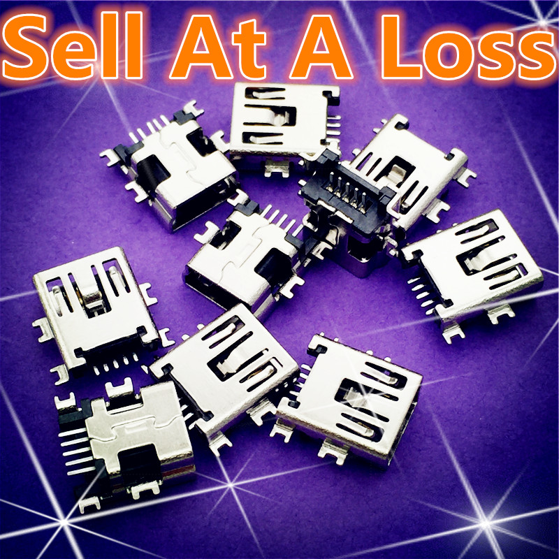 10pcs G36 Mini USB 5pin Female Socket Connector 4foot For Tail Charging Mobile Phone Data Interface High Quality Sell At A Loss
