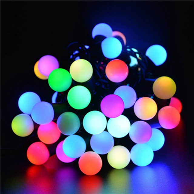 ledertek multi color 50 rgb ball led color changing led string lights ambiance lighting halloween lights
