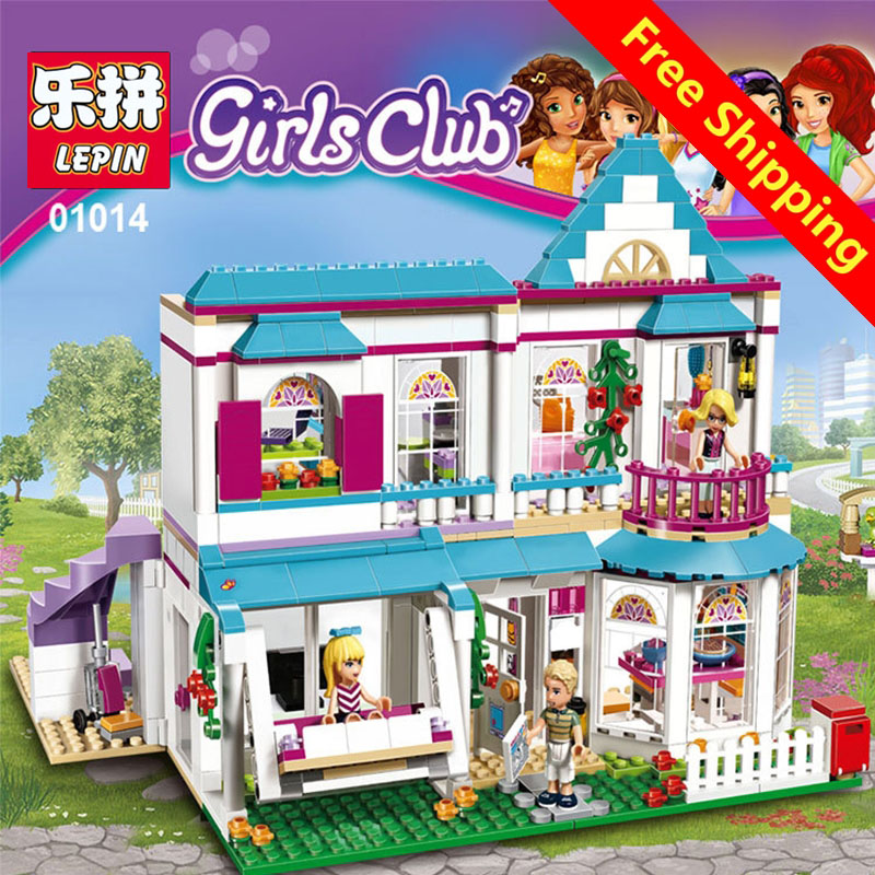 lepin 01014 Genuine Good Friend Girls Series Lepin The Stephanie\'s House Set Building Blocks Bricks with Legoing Friends 41314