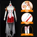 Asuna Yuuki Women Cosplay Costume Custom Made Anime Sword Art Online Cosplay Costume Halloween Party Costumes