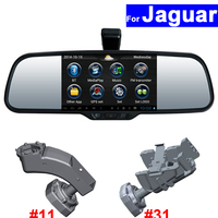Сенсорный экран зеркало заднего вида DVR gps Bluetooth WI FI для Jaguar XF XJ XK F темп X Тип S Тип XKR2012 Android Auto монитор