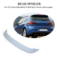 Rear Roof Spoiler Wing Lip For Volkswagen VW Golf 6 VI MK6 R20 GTI 2010 2013 FRP Unpainted Grey