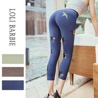women yoga pants calf length leggings sport women fitness push up gym shark trousers