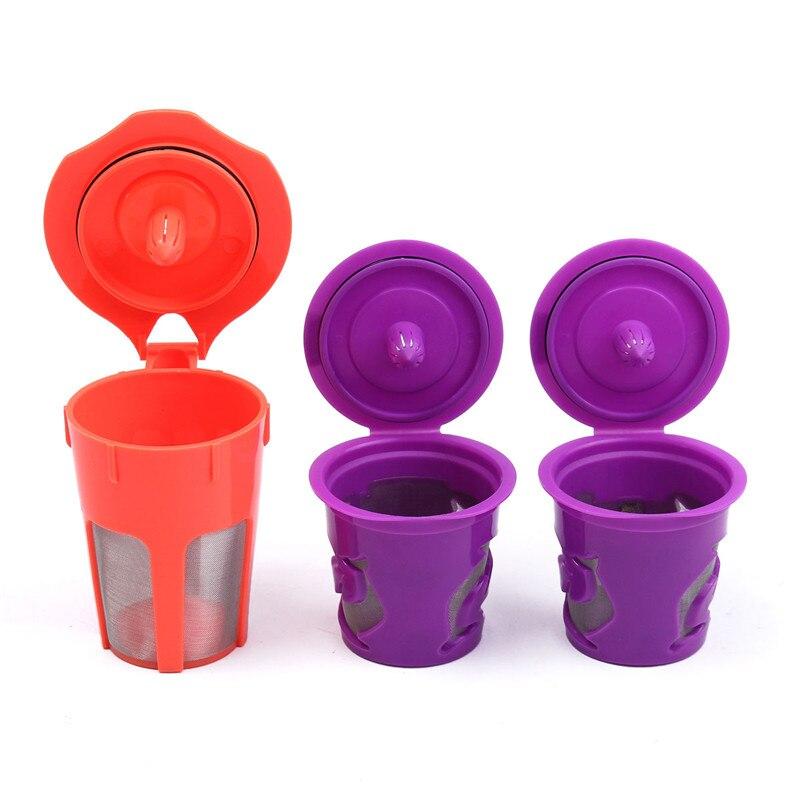 hot sale 3pcs reusable coffee filters capsule refill for keurig 20 kcup k - Cheap Keurig