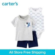 Carter's 3-Piece baby children kids clothing Boy Summer Shark Little Short Set 121I414