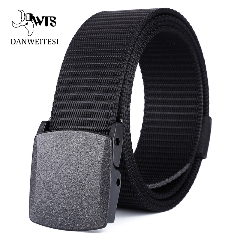 [DWTS] Sport Tactical Accessories For Camping Hiking  BeltSturdy Nylon Belt Men Thicken Metal Buckle Combat Belts