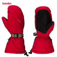 Boodun Velvet Warm Waterproof Winter Ski Gloves Women Men Skiing Snowboard Gloves For Outdoor Sports Snowmobile