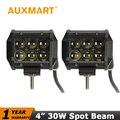 Auxmart 4 inch 30W Led Light Bar CREE Chips LED Spotlight Spot Beam ATV 4x4 Offroad Wagon AWD Truck 4WD Pickup SUV DC 12v 24v