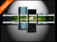Stretched wall art canvas pictures on the wall hot selling living room decoration art reproduction oil painting 4 sets