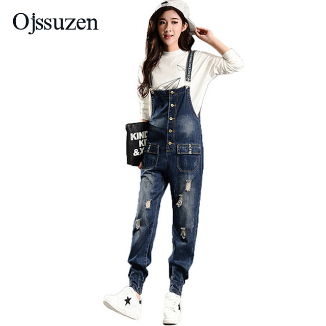 941e4e09335a Ladies Boyfriend Loose Ripped Jeans Overalls Jumpsuits For Women 2018  Summer Rompers Female Plus Size 3XL Denim Jumpsuit Pants