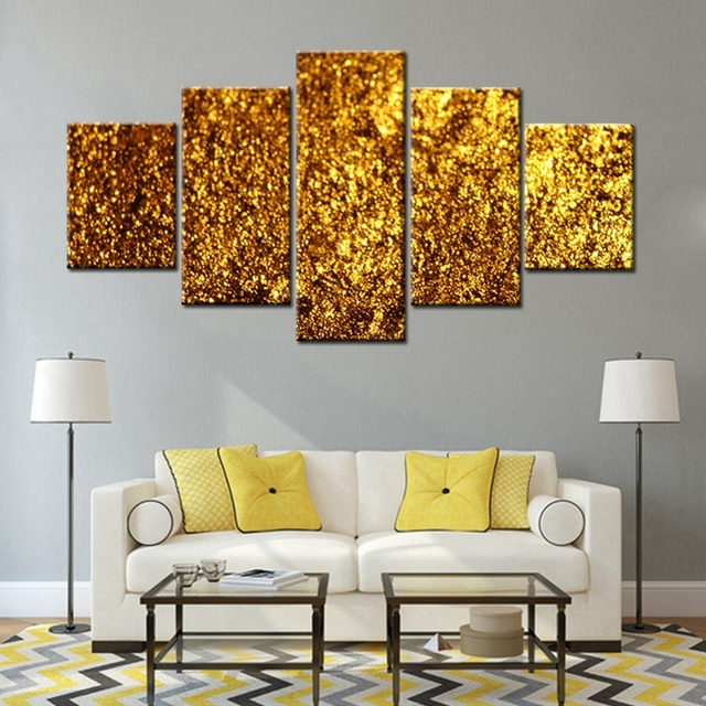 goldene glitzernde gold bild print leinwand gemlde mode dekorationen fr moderne wohnzimmer wandkunst hohe qualitt grohandel - Modernes Wohnzimmer Wandkunst