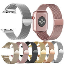 Essidi Milan Gelang Tali untuk Apple Watch Seri 1 2 3 4 5 38 Mm/40 Mm 42 Mm/44 Mm Watch Band Loop untuk IWatch 1 2 3 4 5(China)