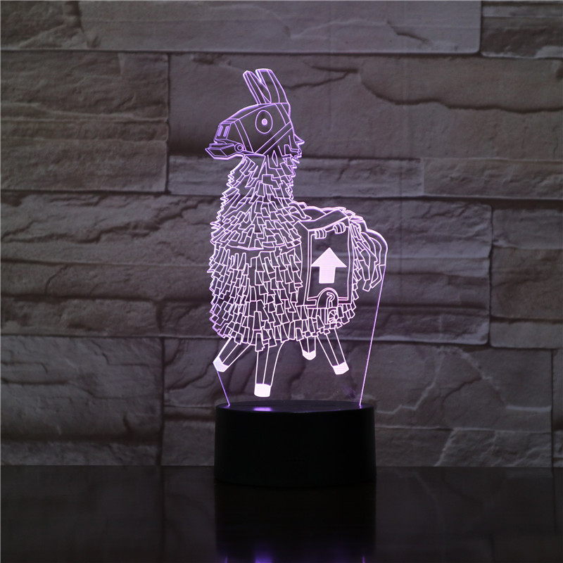 Fortnited Schlacht Royale Nacht Licht Led Alpaka Fortnight Lama Dekorative Lampen Kind Kinder Geschenk Fortnit. Spiel Artikel Tisch Lampe