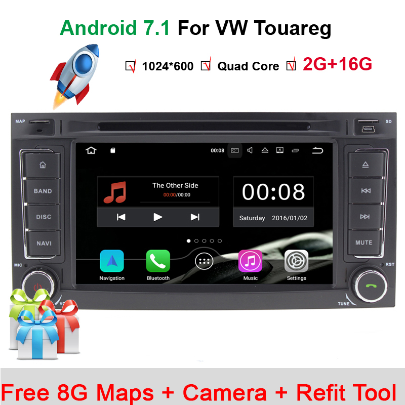 7Capacitive Touch Screen VW Touareg Android 7.1 DVD GPS Player Wifi 3G GPS Bluetooth Radio RDS USB IPOD Steering wheel Control