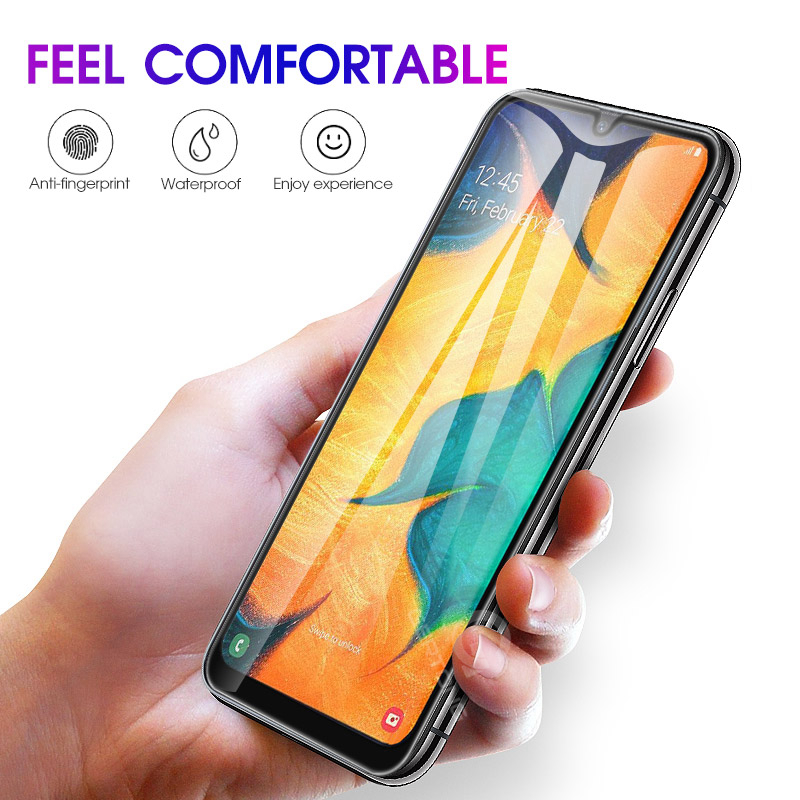 Person - 9D Curved Tempered Glass on the For Samsung Galaxy A30 A50 A10 Screen Protector on For Samsung M10 M20 M30 Protective Glass Film