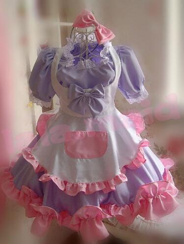 Jolies filles robe de chambre japonaise gros ourlet bulle fantaisie robe Lolita Cosplay Costume 4 couleurs