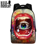 Cool Print Design 17 Inch Laptop Backpacks Women Workers Large Capacity Laptop Backpacks Student Computer Bags