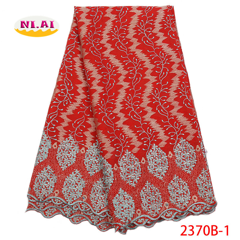Red Swiss Voile Lace In Switzerland Newest Cotton Lace Fabric African Lace Materials For Wedding MR2370B