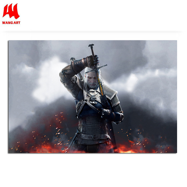 WANGART the Witcher 3 Canvas Art Print Poster Painting Hunting Wild Game Cirilla Geralt large Wall Picture for Living Room jy681 1