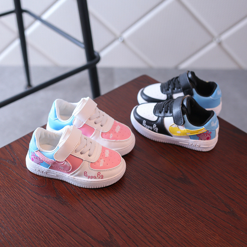 Kids Baby Sneakers Childrens Breathable Soft-soled Shoes Girls Single Todders Children Pigs Cartoon Shoes