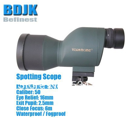 Waterproof Spotting Scope with 20X Magnification and 50 Objective цена