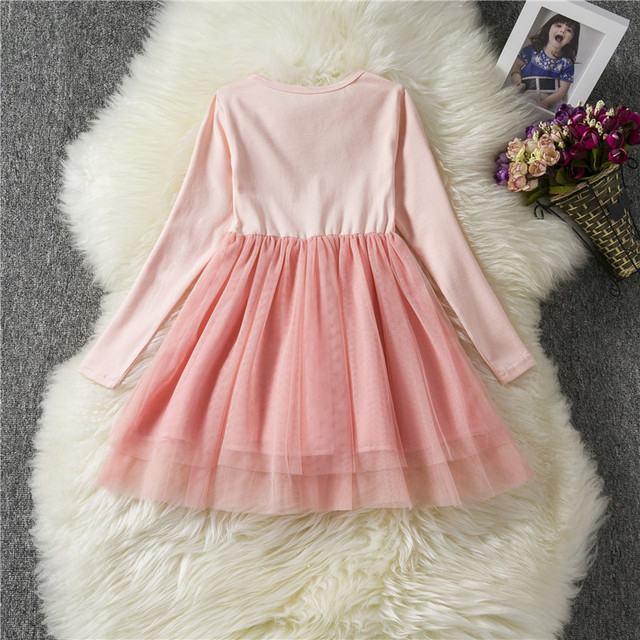 Baby Long Sleeves Unicorn Dress for Girl