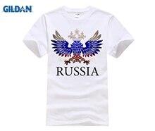 60ad256059a5fb GILDAN T Shirt Cotton Russia Logo Print Men s Clothing Swag Top Tees Collar