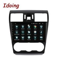 Idoing 1Din 9 «Автомобильный Android8.0 радио GPS; Мультимедийный проигрыватель для Subaru Forester XV WRX 2013-2015 4G + 64G 8 Core навигация быстрая загрузка