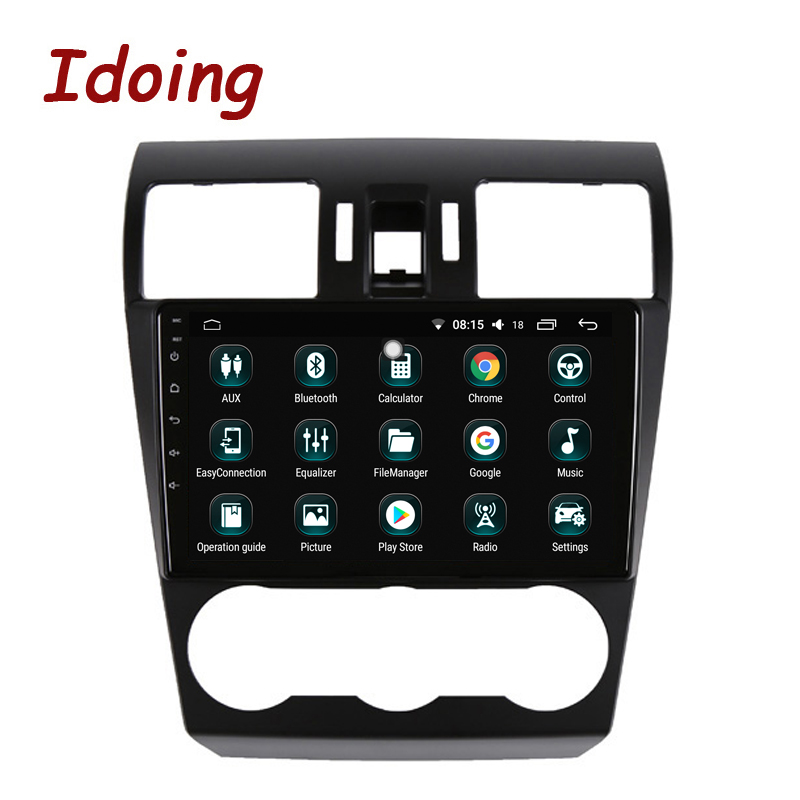Idoing 1Din 9Car Android8.0 Radio GPS Multimedia Player For Subaru Forester XV WRX 2013-2015 4G+64G 8 Core Navigation Fast Boot