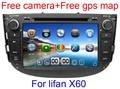 8 дюймов Dvd-плеер Автомобиля для Lifan X60 с GPS Навигации Bluetooth Радио ТВ Стерео Русский язык 3 Г USB Порт + подарок камера + микрофон + карта