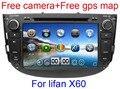 8 inch Car DVD Player for Lifan X60 GPS Navigation Bluetooth Radio TV Stereo Russian language 3G USB Port+Gift camera+mic+map