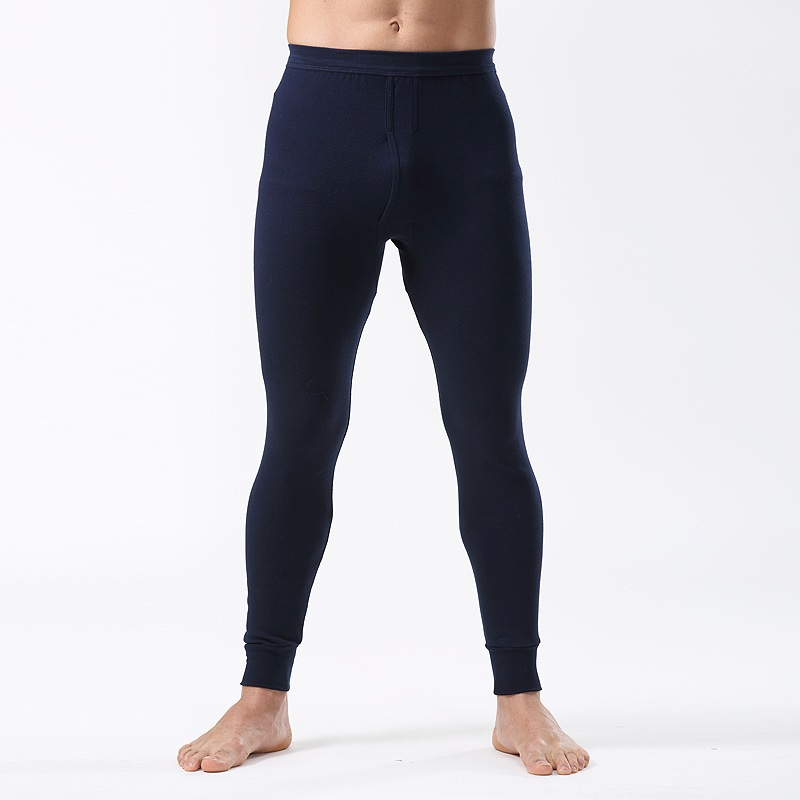 2019 New Men Underwear Pants 100% Cotton Slim Solid Color Leggings Keep Warm Thin Trouser Asian Size