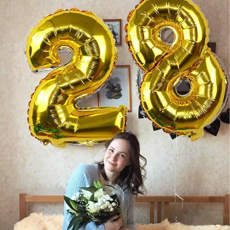 32 pulgadas grande de cumpleaños globos de helio globo número cifras Feliz cumpleaños decoraciones fiesta chico globos cumpleaños Balon