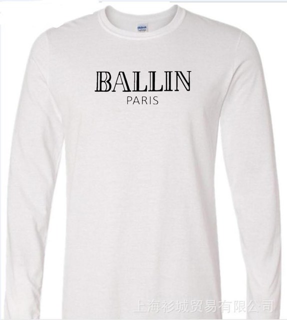 Men s Clothing O-Neck Ballin Amsterdam Graphic Unisex T-shirt Men long  Sleeve T Shirt Cool Cotton Tee Shirt df1f7fc84cd