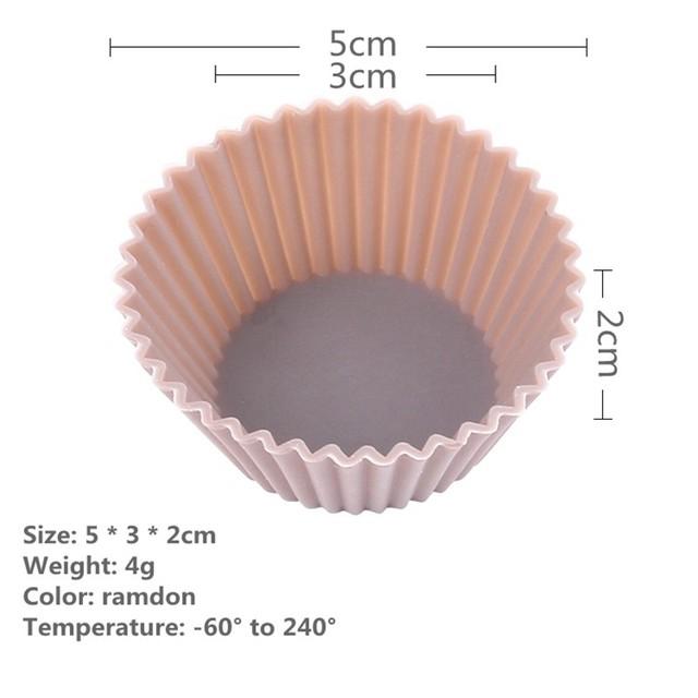 6pcs Silicone Cake Mold Muffin Cupcake Baking Dishes Pan Form To Bake Dessert Decorating Tools Bakeware Kitchen Dining Bar